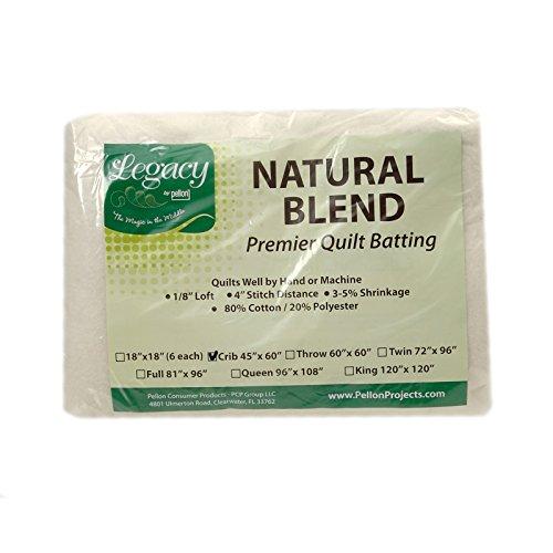 Pellon Natural Blend 80/20 Batting Crib 45in X (Blend Batting)