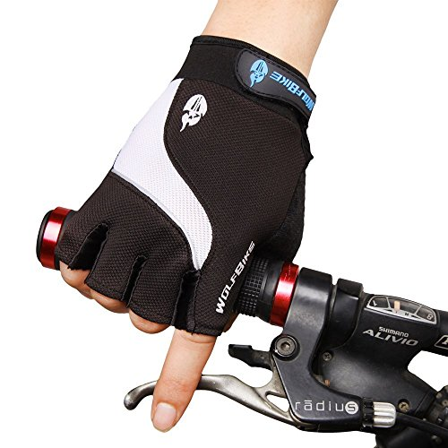 Muyankissu Cycling Gloves Bike Bicycle Gel Gloves Silicone half finger and anti-slip full finger gloves Ultra-breathable