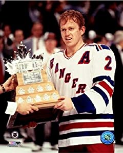 """Brian Leetch New York Rangers Game 7 1994 Stanley Cup® Finals NHL Photo (Size: 8"""" x 10"""")"""