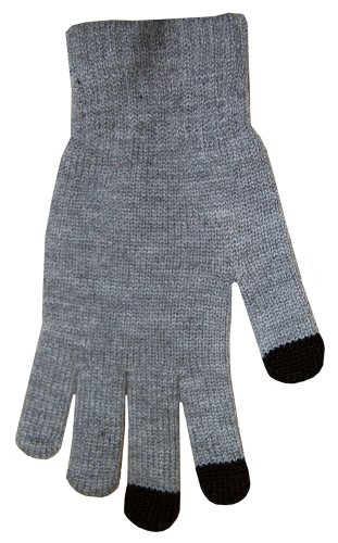 Boss Tech Products Knit Touchscreen Gloves with Conductive Fingertips for Use with All Touchscreen Electronic Devices- (Boss Gray Glove)