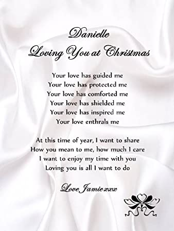 personalised romantic christmas poem scroll loving you at christmasa5 love letter