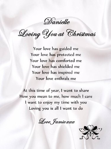 Personalised Romantic Christmas Poem Scroll  Loving You At