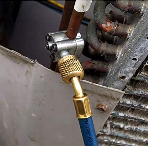 Refrigerant Can Tap with Gauge R134a can to R-12//R-22 port BPV31 Piercing Valve for Bullet with R134a Charging Hose