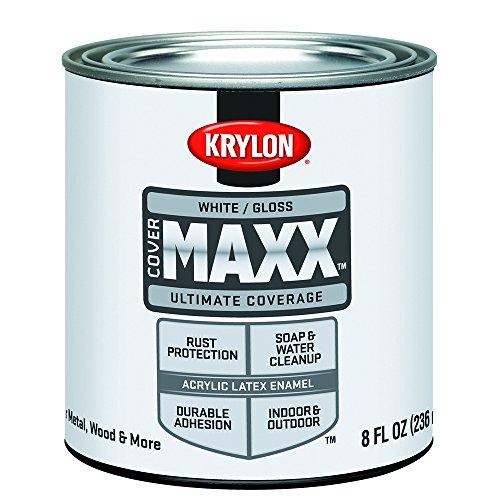 Krylon K09610000 COVERMAXX - Half Pint, Gloss White