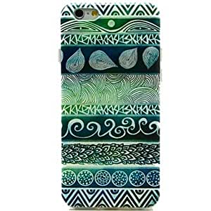 WQQ color claro patrón de flores de huella digital TPU suave para el iPhone 6 Plus