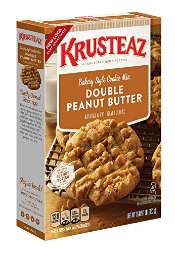 Krusteaz Bakery Style Cookie Mix, Double Peanut Butter, 16 Ounce (Pack of 12) ()