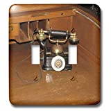 3dRose Jos Fauxtographee- Old Phone at Mizpah - An old telephone that sits on a desk at the Mizpah Hotel in NV - Light Switch Covers - double toggle switch (lsp_291060_2)