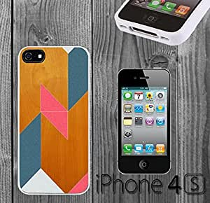 Cool Fun Geometric Design Custom made Case/Cover/Skin FOR iPhone 4/4s -White- Rubber Case (Ship From CA) by mcsharks