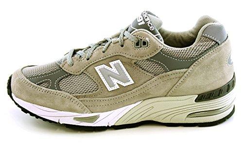 New Balance Zapatos De Mujer Blanco-Gris-Marrón
