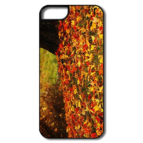 LFL-CASE For IPhone 5/5s Customize Particular Red Yellow Autumn Leaves