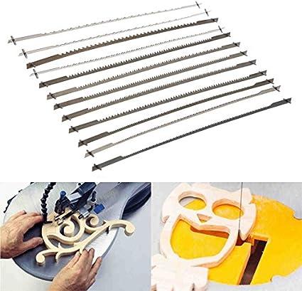 12 hojas de sierra de desplazamiento con dientes fijados de 12,7 cm (10/15/18/24 dientes) para carpintería, accesorios de herramientas eléctricas, 127 mm, color negro