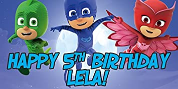 PJ Mask Personalized Birthday Banner/Backdrop