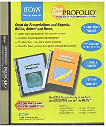 Itoya Clear Cover Portfolio Presentation Books - 60 Pages - 120 Views 1 pcs sku# 1842118MA
