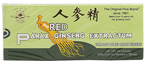 Prince of Peace Panax Ginseng Extract With Alcohol Pine, 10X10cc Count