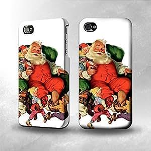 Apple iPhone 4 / 4S Case - The Best 3D Full Wrap iPhone Case - Santa Claus
