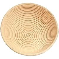 Cesta para pruebas de pan redondo de ratán natural hecha a mano masa cuenco para hornear masa de fermentación