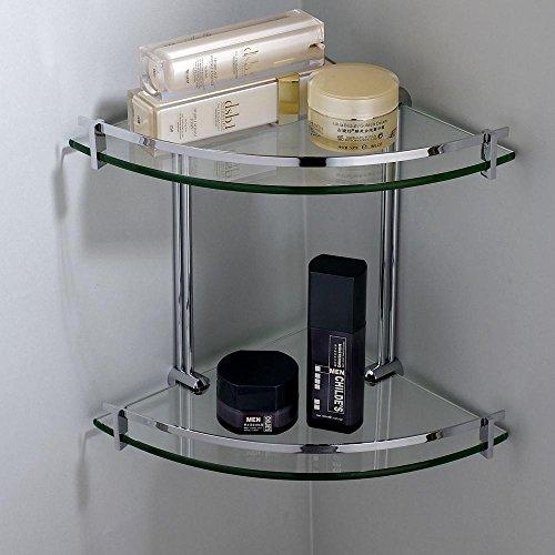Nhd Copper Badregal Eckregal Glas Glas Kosmetik Double Amazon De