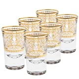 Rose's Glassware 14K Gold or Fine Silver Decorative Shot Glasses Italian Glassware Set