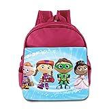 Kids Super Why School Backpack Fashion Children School Bags Pink