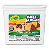 Crayola Products - Crayola - Model Magic Modeling Compound, 8 oz, Natural - Sold As 1 Each - A new collection of earthtone colors is just part of the fun. - Easily sculpted, air-drying modeling material can be decorated with markers, paint and more. - Includes four 8-ounce pouches.