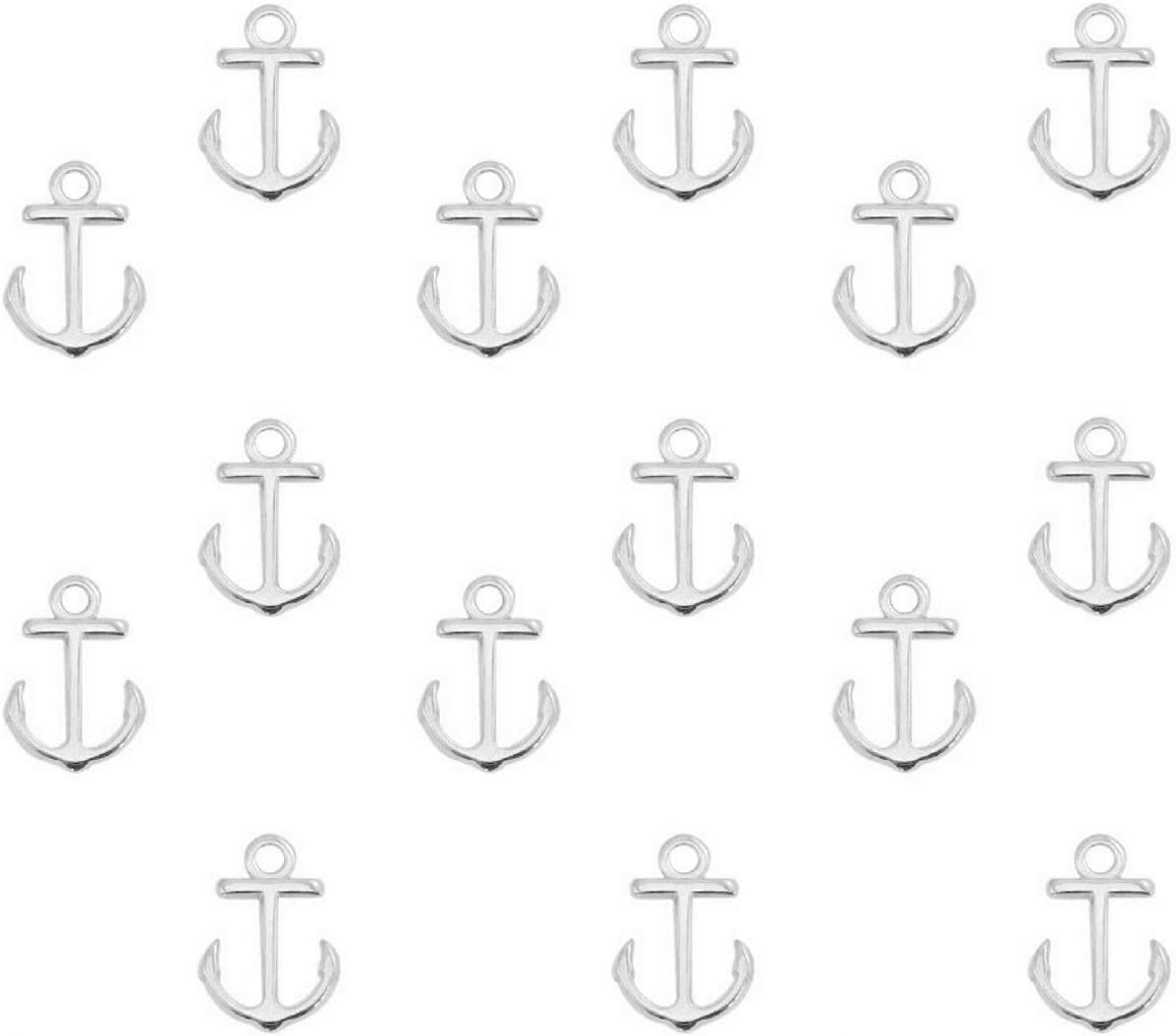 15x10 mm Sadingo Metallanh/änger Anker Set aus DQ Metall Farbe//Anzahl w/ählbar Anh/änger Armband Makramee Gro/ßpackung