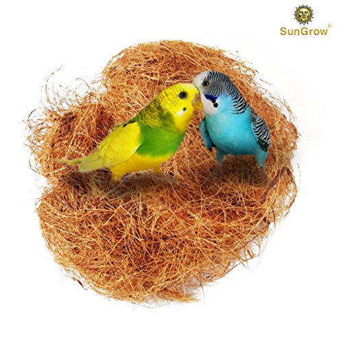 Comfort Bird Nest Pad --- 100% Safe Material: Great for All Cage Sizes - Makes perfect resting spot - Suitable for for Hummingbird, Canary, Finch, Budgerigar, Cockatiels, African greys, Conures Coco Soft Fiber