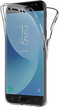 AICEK Funda Samsung Galaxy J7 2017, Transparente Silicona 360 Grados Full Body Fundas para Samsung J7 2017 Carcasa Silicona Funda Case (5,5 Pulgadas SM-J730F): Amazon.es: Electrónica