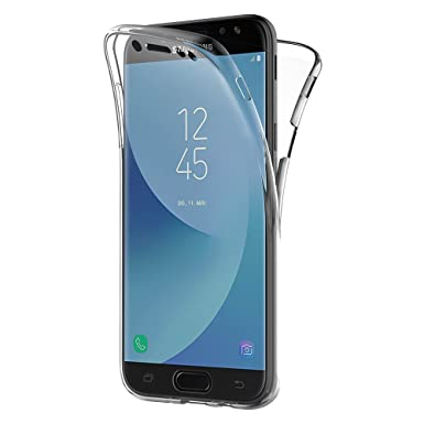 new product d38f8 99a64 Samsung Galaxy J7 2017 Case, AICEK Full Body 360 Degree Transparent  Silicone Cover for Samsung J7 2017 J730 Bumper Covers Clear Case