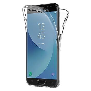 AICEK Funda Samsung Galaxy J5 2017, Transparente Silicona 360 Grados Full Body Fundas para Samsung J5 2017 Carcasa Silicona Funda Case (5,2 Pulgadas ...