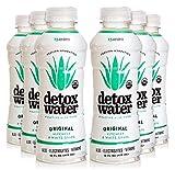 Detoxwater Prebiotic Aloe Water - Original (Lychee & White Grape) 16 Fluid Ounces, Pack of 6