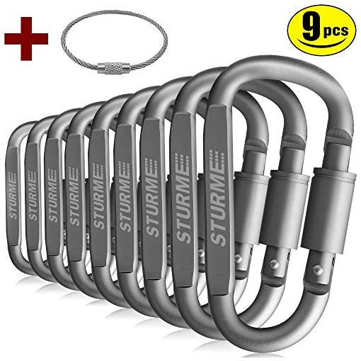 STURME Carabiner Clip Aluminum D-Ring Locking