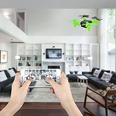 Heliway Mini Drone WiFi FPV Drone with HD Camera 0.3MP Headless Mode 3D Flip One-key Taking-off & Landing 6-Axis Gyro 2.4GHz RC Quadcotper - Green
