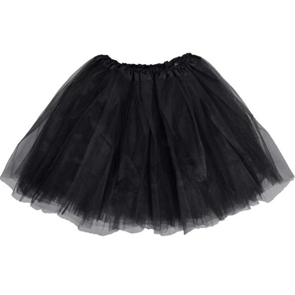 BellaSous Classic Elastic Ballet-Style Adult Tutu Skirt, by Great Princess Tutu, Adult Dance Skirt, Petticoat Skirt Or Pettiskirt Tutu for Women. Tulle Fabric (Black Tutu, One Size)