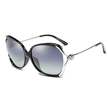 Pequeño árbol Gafas de sol polarizadas femeninas, gran marco, elegantes gafas de sol redondas