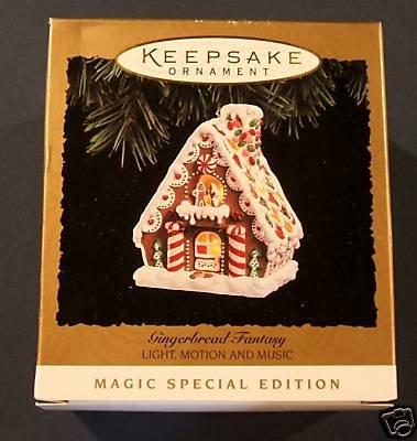 (Hallmark Keepsake Ornament Gingerbread Fantasy Light, Motion and Movement, New in Box)