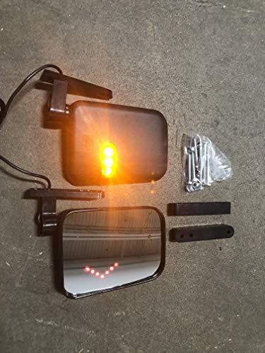 Maverick Advantage Universal Golf Cart LED Side View Mirrors w/Integrated Turn - Kit Mirror Signal Turn