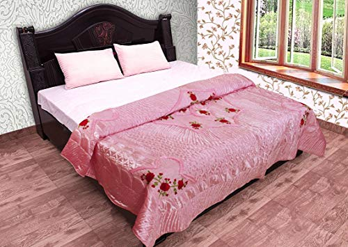 vintage avon bottles (AMAZ0N Home) Quilts Self Design Printed Satin Wedding Bedding Set (Set of 1 pcs) 1 Double Bed