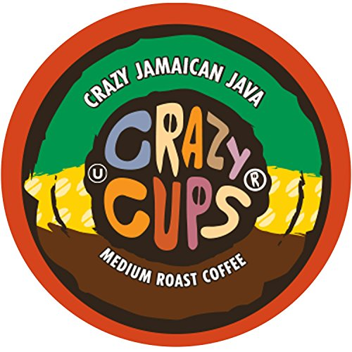 Crazy Jamaican Java Flavored Coffee, Single Serve Cups For Keurig K-cup Brewers,  22 Count