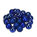 Binmer(TM)24Pcs Christmas Tree Decoration Ball Holiday Party Christmas Tree Ornaments (Blue)