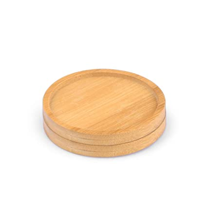 Amazon Com Wituse 2 83 Inches Round Wooden Saucer Planter Saucer