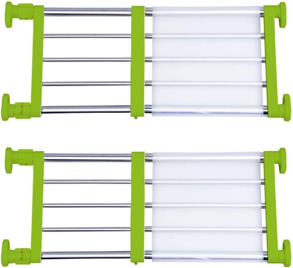 Tension Shelf Closet Storage Rack Adjustable Wardrobe Shelf Rose Red 50-80cm