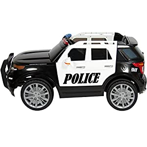 Best Choice Products Ford Style 12V Ride On Car Police Car W/ Remote Control, 2 Speeds, LED Lights