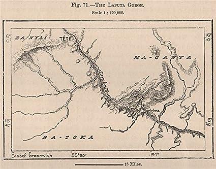 Zambezi River Map on
