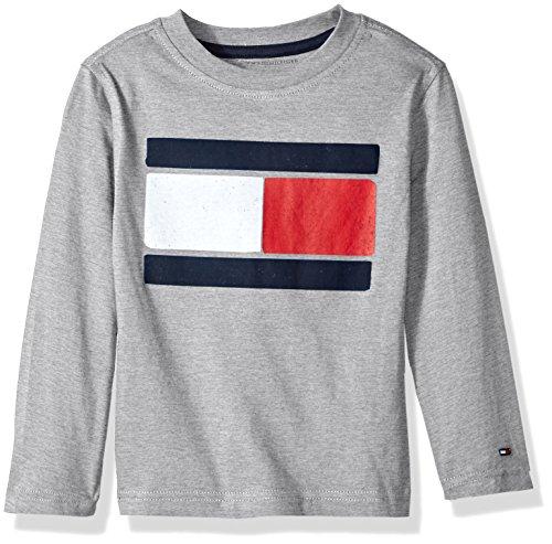 oys' Long Sleeve Tee, Flag Grey Heather, Medium ()