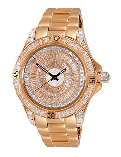 Adee Kaye Men's Quartz Brass Dress Watch, Color Rose Gold-Toned (Model: AK7185-MRG)