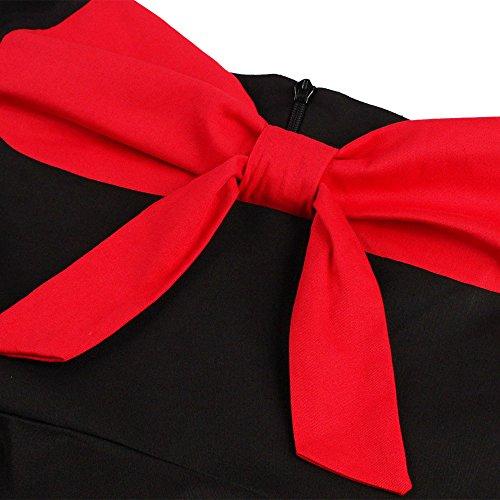 ZAFUL Robe Vintage années 1950 's Style Audrey Hepburn Rockabilly Swing Sans manche Robe Rétro Sexy Robe de Soirée Cocktaile Grande Taille