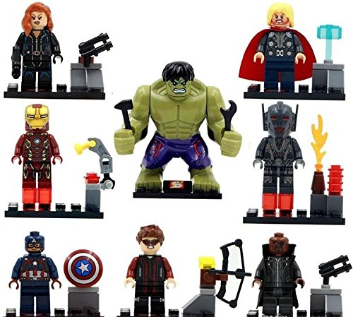 8Pcs LEGO Marvel Avengers DC Super Heroes Minifigures Set Mini Building Blocks