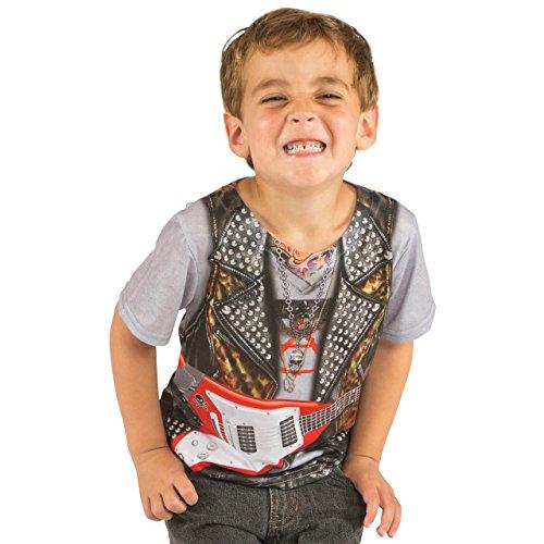 ROCK STAR Guitar Musician Rocker Toddler Kids Child Allover T-Shirt (Rock Star Toddler Tee)