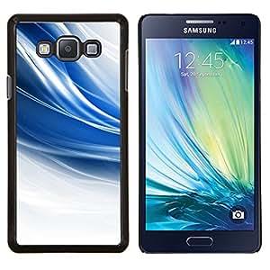 KLONGSHOP // Cubierta de piel con cierre a presión Shell trasero duro de goma Protección Caso - El azul remolina - Samsung Galaxy A7 A7000 //