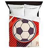 Queen Duvet Cover Soccer Football Play The Game Red